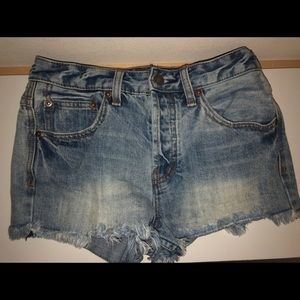 Free People size 25 denim shorts